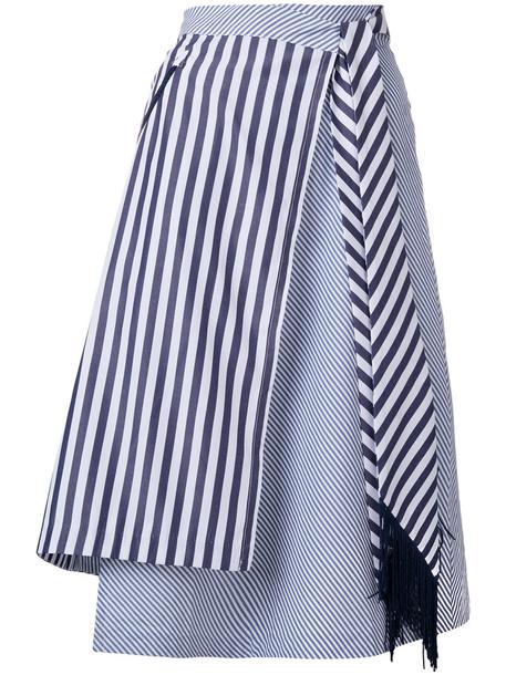 House of Holland skirt wrap skirt women cotton blue