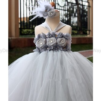 grey dress dress grey flower girl dress flower girl dress 2014