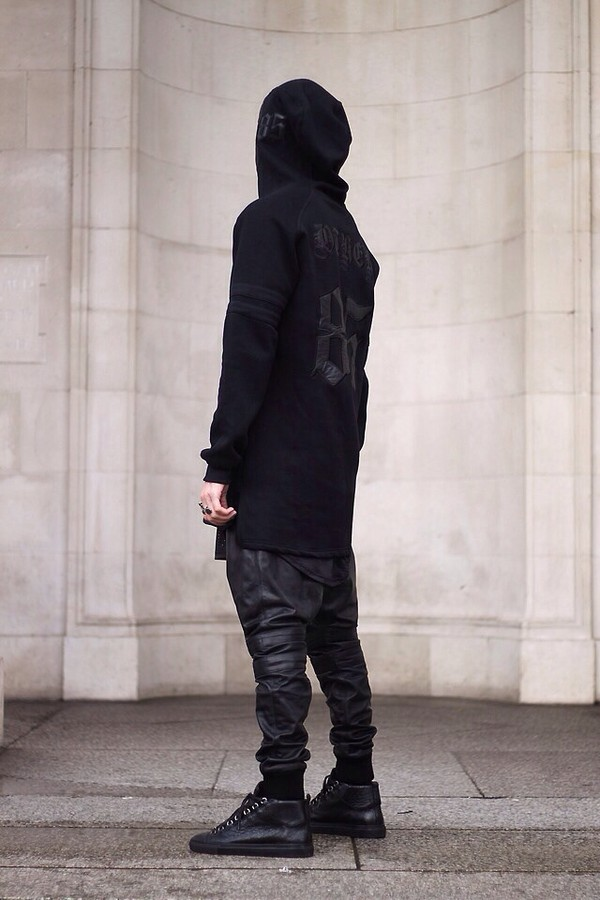 Sweater Blvck Street Goth Blvck Fashion Dark Menswear Mens Cargo Pants Wheretoget