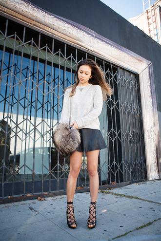 fashion toast sweater skirt shoes bag