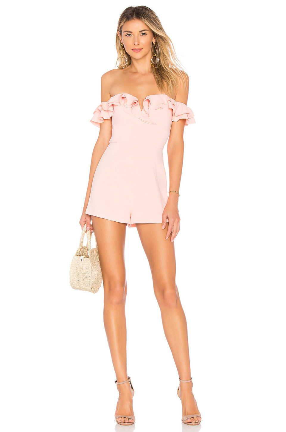 by the way. Jada Ruffle Romper in pink