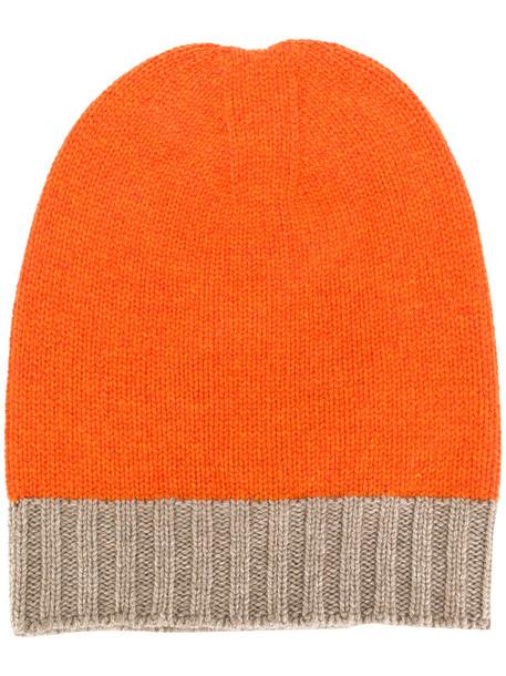 women hat beanie yellow orange