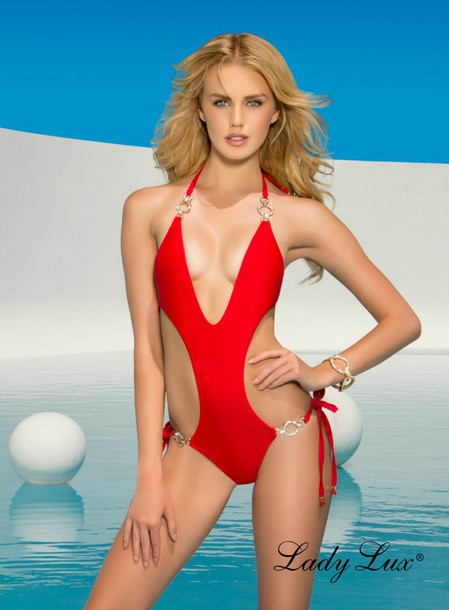 ae8fff29c80 swimwear, one piece swimsuit, red swimwear, red bikini, red monokini ...