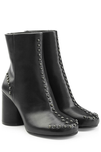 black ankle boots studded boots ankle boots black shoes