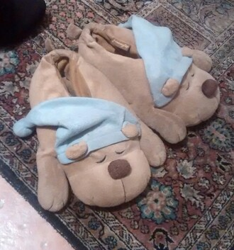 shoes dog stuffed animal pillow ciabatte cane peluche