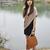 Beige&Black Cotton Asymetric New Style Dress