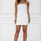 Fira satin mini dress - white