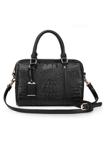 Fashion Compact Series Crocodile Handbag In Black [FPB659]- US$ 44.99 - PersunMall.com