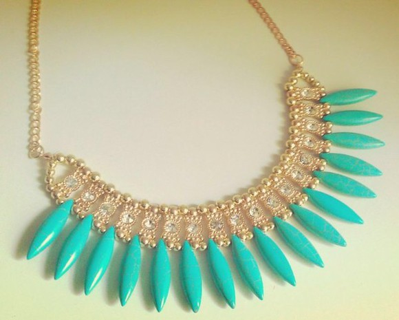 jewels turquoise statement necklace