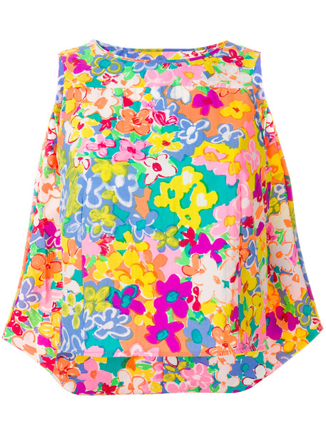top floral top cropped women floral