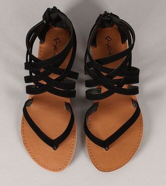 shoes strappy black black sandals brown leather leather sandals brown sandals sandels style strappy sandals flip-flops fashion