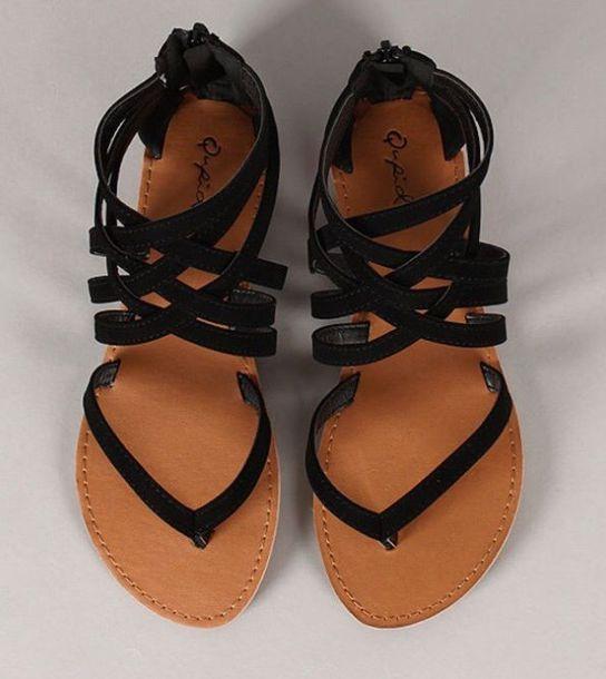 4020bd7e9d6ed shoes strappy black black sandals brown leather leather sandals brown  sandals sandels style strappy sandals flip