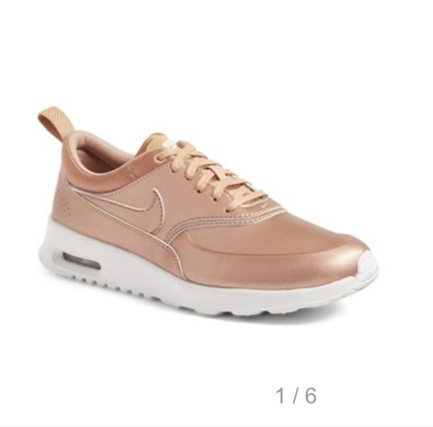 shoes rose gold nike nike air nike running shoes nike air max thea