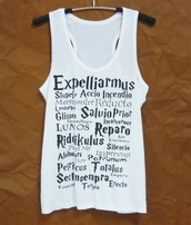 top,harry potter tank top,singlet,sleeveless,cute tank top,women tank top,women tee,teen girl clothing