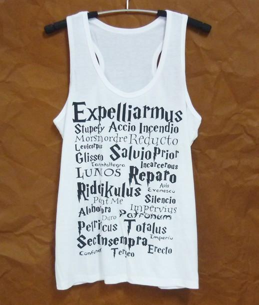 top harry potter tank top singlet sleeveless cute tank top women tank top women tee teen girl clothing