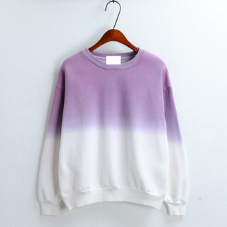sweater fashion ombre gradient cute kawaii style trendy long sleeves