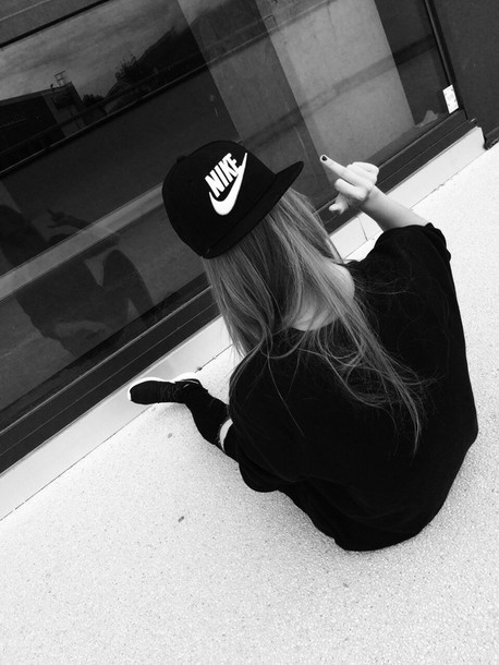 hat black black fashion nike snapback black and white