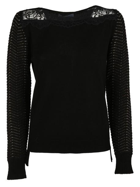 Blumarine sweater lace black