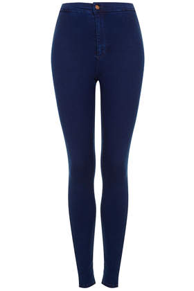 MOTO Hyper Blue Joni Jeans - Denim - Clothing - Topshop USA