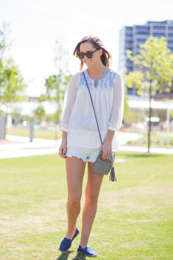 side smile style shorts shoes sunglasses tank top nail polish