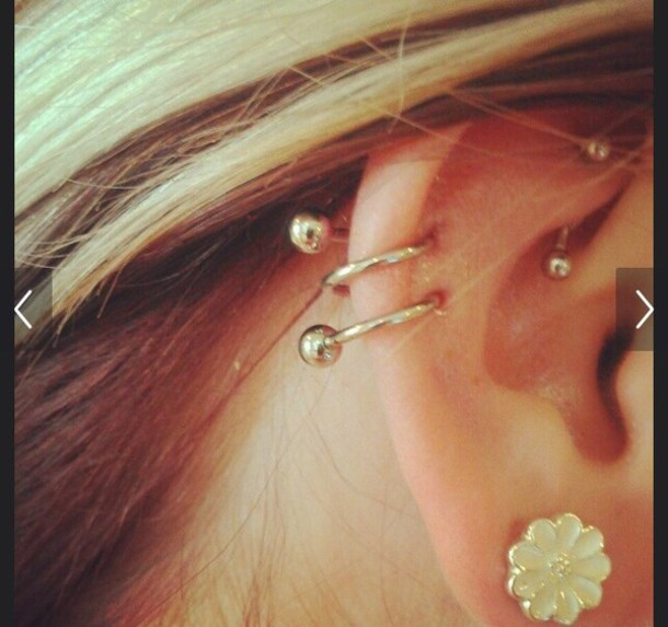 jewels double cartilage cartilage earring spiral