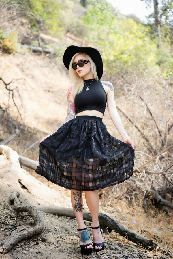 skirt skirt black skirt summer outfits streetstyle stylemoi punk rock