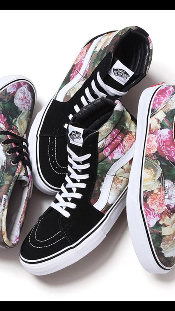 vans vintage floral sk8 hi