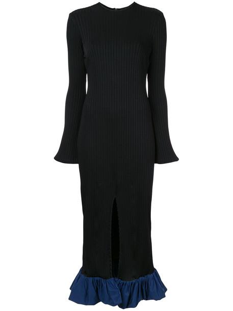 ellery dress women spandex black