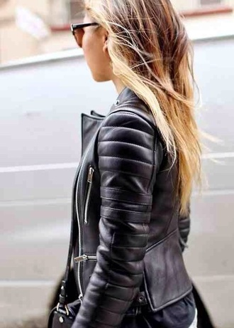 jacket jeans black leather jacket leather bag fashion fall outfits love more beautiful