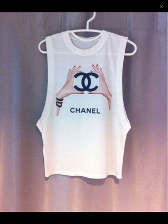 shirt chanel t-shirt hands style