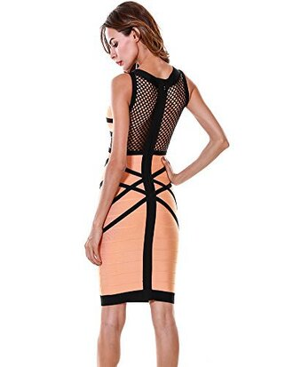 dress bodycon dress mesh bodycon dress apricot melon bandage dress