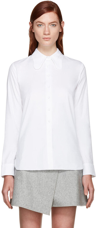 shirt collar shirt white top