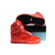 supra tk society all red leather kids skate shoes