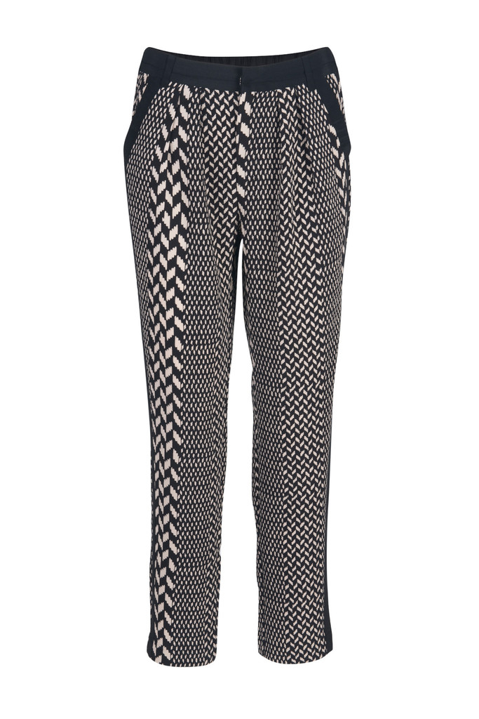 Laetis printed long pants black