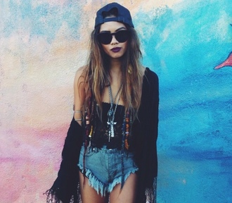 swag perf perfect shorts summer outfits cardigan top jewels