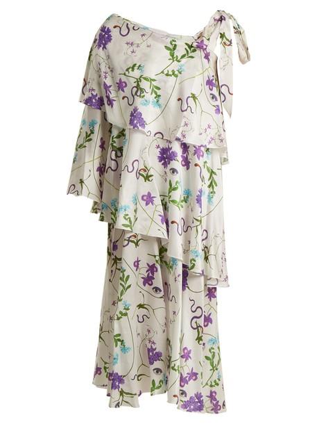Borgo De Nor dress cotton print silk white