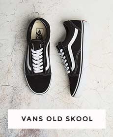 Mens Black & White Vans Old Skool Trainers   schuh