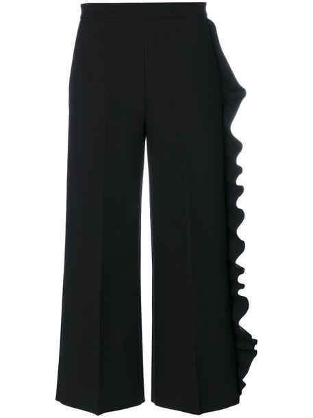 MSGM cropped women spandex black pants
