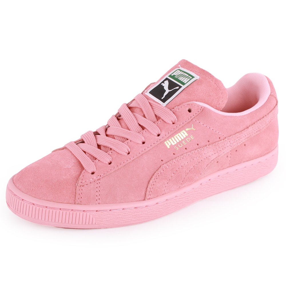 dcdde58eab39 Puma Suede Classic Womens Suede Trainers Light Pink New Shoes ...