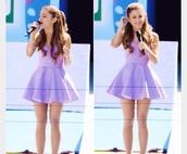 dress,ariana grande,purple dress,bustier,sweet,lavender prom dresses