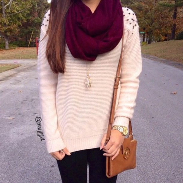 blouse sweater scarf