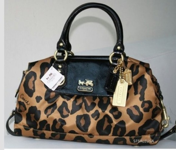 bag cheetah print animal print coach bags purses