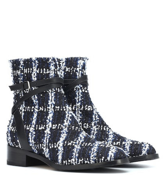 Jimmy Choo Exclusive to Mytheresa – Harris 35 tweed ankle boots in blue