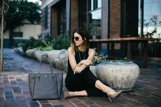 take aim blogger sunglasses tote bag heels