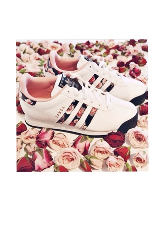 shoes adidas adidas shoes flowered shoes