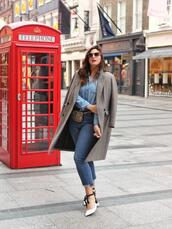 fashion foie gras,blogger,coat,jeans,shoes,belt,bag