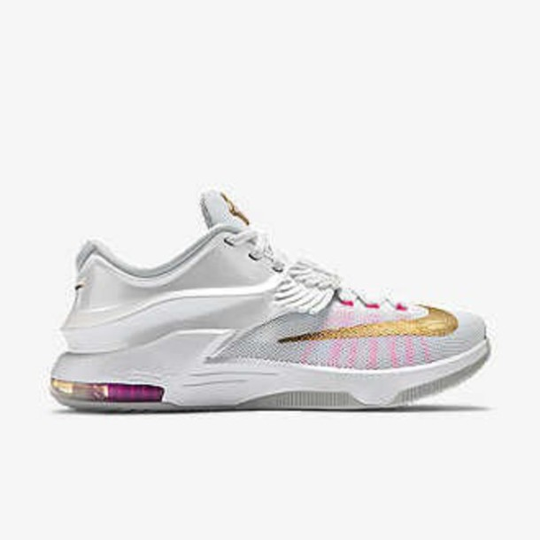 shoes kevi durant aunt pearl kd7 white low top sneakers white sneakers