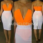 jumpsuit,transparent skirt,orange playsuit,high waist skirt,celebration,sexy,skirt,shirt,orane
