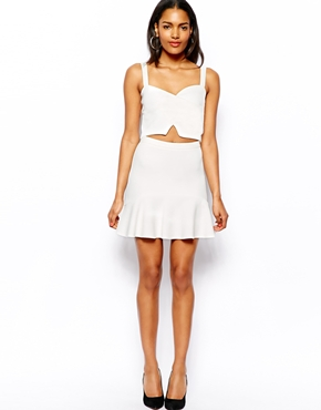 River Island | River Island Fluted Hem Mini Skirt at ASOS