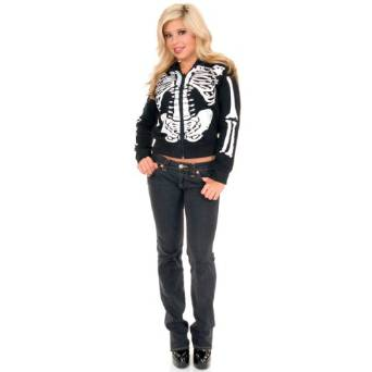 Amazon.com Womenu0027s Black u0026 White Skeleton Costume Hoodie Adult Sized Costumes Clothing  sc 1 st  Where To Get It & Amazon.com: Womenu0027s Black u0026 White Skeleton Costume Hoodie: Adult ...